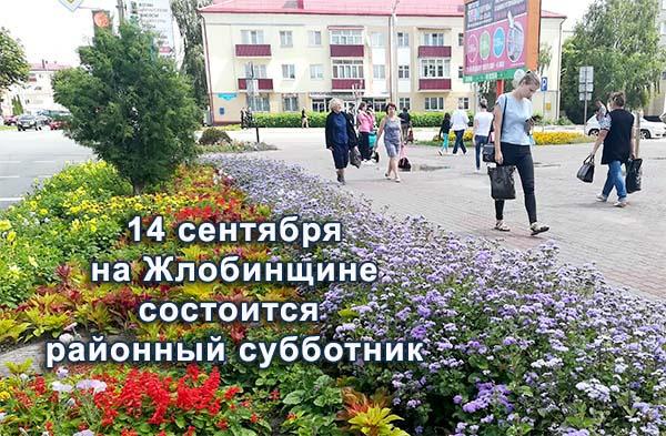 11.09.2019 14 сентября на Жлобинщине пройдёт районный субботник